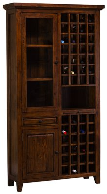 Tuscan Retreat®tall Wine Storage - Antique Pine