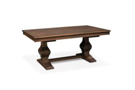 "Crawford Double Pedestal Table, Crawford 48""x84"" Double Pedestal Table, Solid Top"