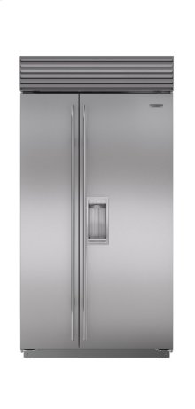 """42"""" Built-In Side-by-Side Refrigerator/Freezer with Dispenser"""