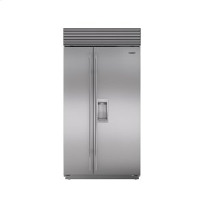 "Subzero42"" Built-In Side-by-Side Refrigerator/Freezer with Dispenser"
