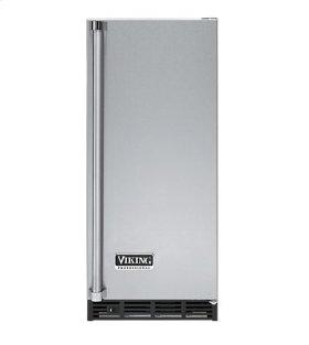 """Stainless Steel 15"""" Ice Machine - VUIM (Left Door Hinge)"""