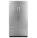 42-inch Stainless Steel Panel Kit for Fully Integrated Built-In French Door Refrigerator, Euro-Style Stainless