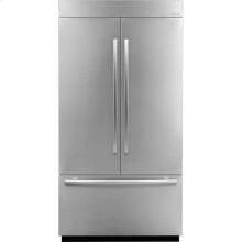 42-inch Stainless Steel Panel Kit for Fully Integrated Built-In French Door Refrigerator, Euro-Style Stainless Handle