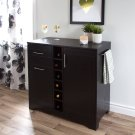 Bar Cabinet and Bottle Storage - Black Oak Product Image