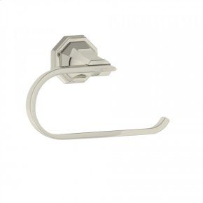Polished Nickel Perrin & Rowe Deco Wall Mount Toilet Paper Holder