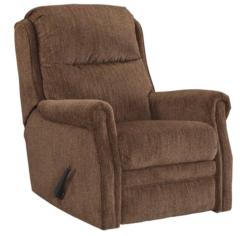 Signature Design by Ashley Earles Rocker Recliner in Chestnut Fabric