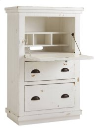 Armoire Desk - Distressed White Finish Product Image