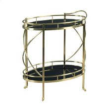 Hidden Treasures Rolling Bar Cart