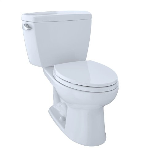 Eco Drake® Two-Piece Toilet, 1.28 GPF, Elongated Bowl - Cotton