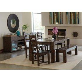 Calabasas Rustic Dark Brown Five-piece Dining Set