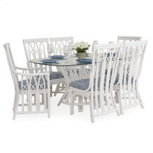 Rattan 7PC Dining Set in White