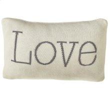 """""""Love"""" Lumbar Pillow."""
