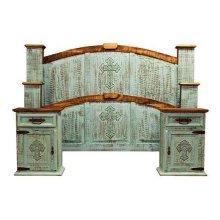 Turquoise Drawer Mirror