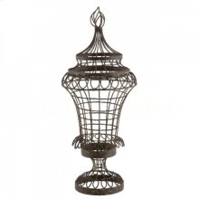 Leaf Urn with Flame Top - Small