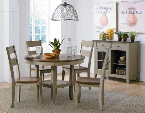 Leg Table, W/4 Chairs