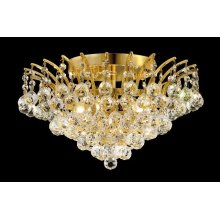 8031 Victoria Collection Flush Mount Gold Finish