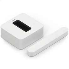 White- A smart soundbar and wireless subwoofer for TV, music, and more.
