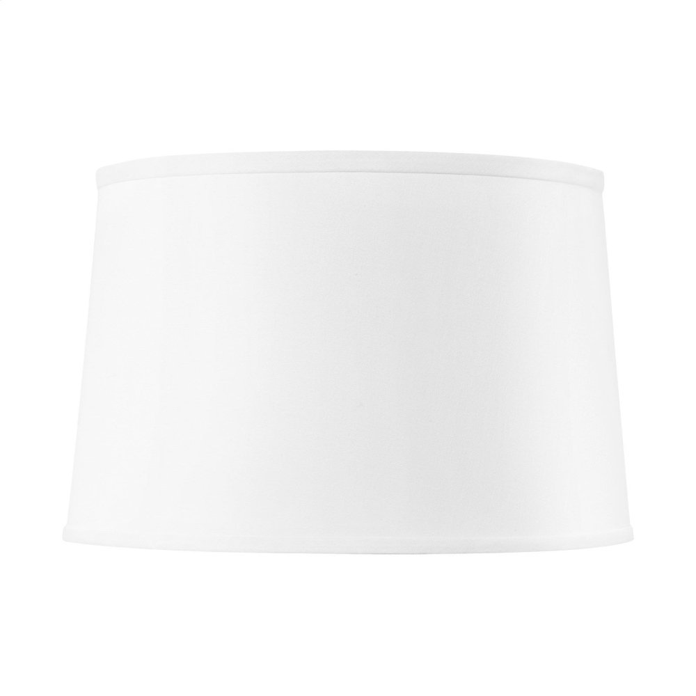 Shade 17-inch with Gold, White Linen