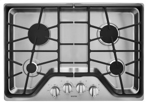 30-inch Wide Gas Cooktop with DuraGuard Protection Finish Product Image
