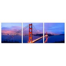 Modrest San Francisco 3-Panel Acrylic Painting
