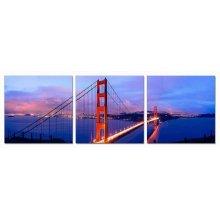 Modrest San Francisco 3-Panel Acrylic Painting