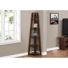 "BOOKCASE - 72""H / CHERRY CORNER ACCENT ETAGERE"