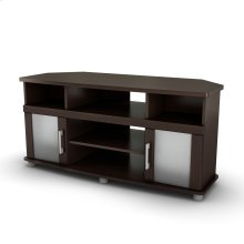 Corner TV Stand - Fits TVs Up to 50'' Wide - Chocolate