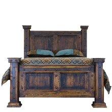 Queen Bed W/Reclaimed Wood Panels
