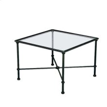 "Florentine 26"" Square Corner Table, Glass Top"