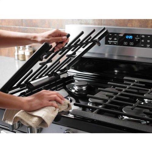 Whirlpool® 5.8 Cu. Ft. Freestanding Gas Range with Frozen Bake™ Technology - Fingerprint Resistant Stainless Steel
