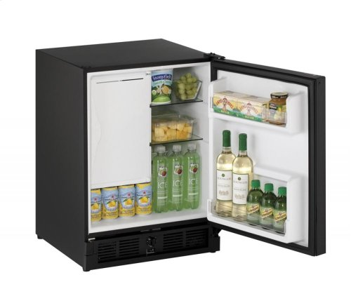 """SAVE BIG!!! - PRACTICALLY NEW BUT SERVICED AND OPERATING LIKE NEW - 90 DAY FULL WARRANTY: U-LINE FRIG/FREEZER - 21"""" ADA Combo ® Model Black Solid Field Reversible"""