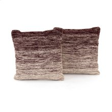 """20x20"""" Size Currant Ombre Pillow, Set of 2"""