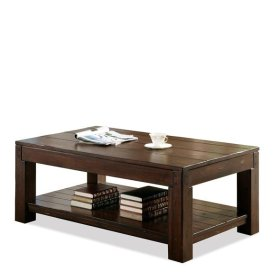 Castlewood Rectangular Coffee Table Warm Tobacco finish