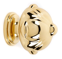 Ornate Knob A6929-38 - Polished Brass