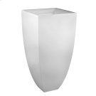 """Freestanding washbasin in bright white Ceramilux® without overflow Wall drainage 35-7/16"""" HIGH x 17-11/16"""" WIDE Waste in 031 finishing (149 and 080 finishing available upon request) Syphon and connection hose include Tip toe style spring loaded drain 29048 or 29284 available separately CSA certified Please contact Gessi North America for freight terms Product Image"""