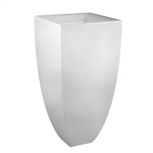 "Freestanding washbasin in bright white Ceramilux® without overflow Wall drainage 35-7/16"" HIGH x 17-11/16"" WIDE Waste in 031 finishing (149 and 080 finishing available upon request) Syphon and connection hose include Tip toe style spring loaded drain 29048 or 29284 available separately CSA certified Please contact Gessi North America for freight terms"