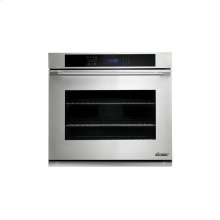 """Distinctive 30"""" Single Wall Oven in White Glass - ships with Epicure Style white handle."""