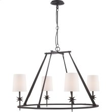 Visual Comfort S5315BR-NP Ian K. Fowler Etoile 4 Light 36 inch Blackened Rust Chandelier Ceiling Light