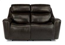 Mystic Leather Power Reclining Loveseat with Power Headrests