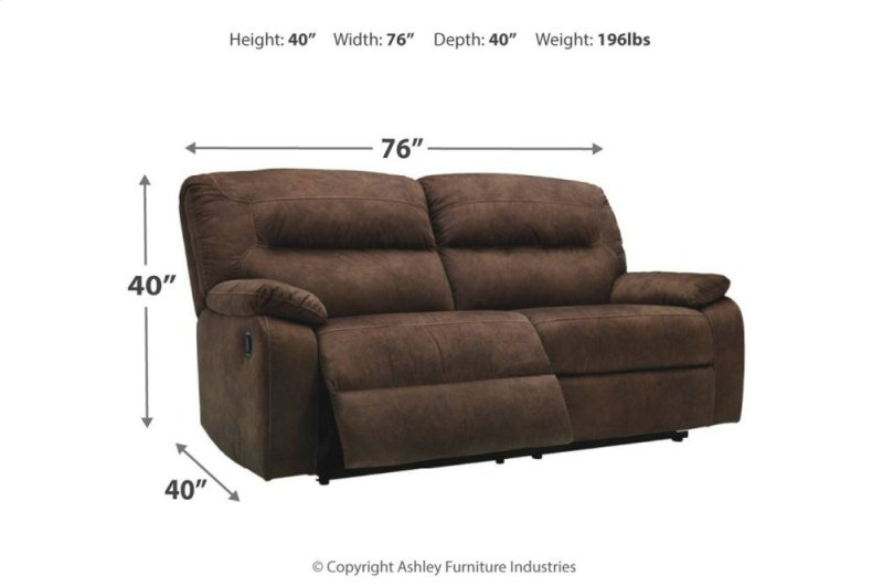 9380281 In By Ashley Furniture In Tulsa Ok 2 Seat Reclining Sofa