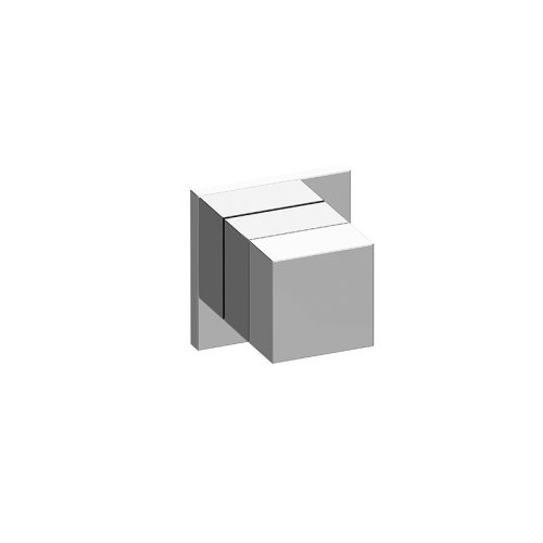 M-Series Square Stop/Volume Control Trim Plate and Handle