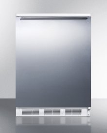 Built-in Undercounter All-refrigerator for General Purpose Use W/automatic Defrost, Stainless Steel Wrapped Door, Horizontal Handle, and White Cabinet
