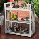 Grid Block Bar Cart-White Product Image