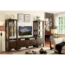 Riata - 74-inch Pier - Warm Walnut Finish