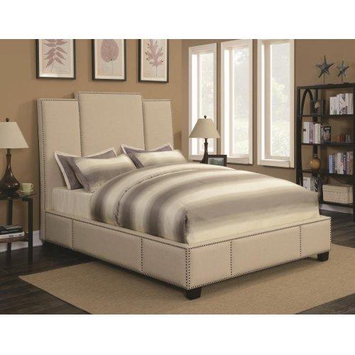 Lawndale Beige Upholstered King Bed