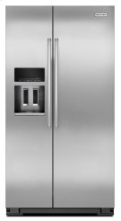 20 Cu. Ft. Counter Depth Side-by-Side Refrigerator with Exterior Ice and Water - Monochromatic Stainless Steel Product Image