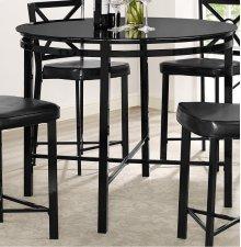 Diamond Black / Glass Pub Table