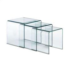 Explorer Nesting Table Clear Glass