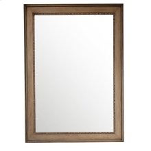 "Bristol 29"" Rectangular Mirror, White Washed Walnut"
