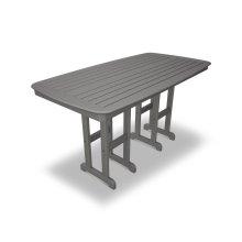 "Slate Grey Nautical 37"" x 72"" Counter Table"